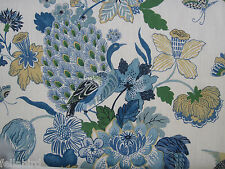 "SCHUMACHER CURTAIN FABRIC ""Lansdale Bouquet"" 6 METRES PORCELAIN (600 CM)"