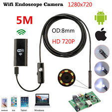 8mm 5m 6LED Waterproof Wifi Android iPhone Endoscope Borescope Inspection Camera