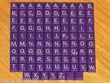 Travel Scrabble mini purple plastic letter tiles Game Parts jewelry art crafts