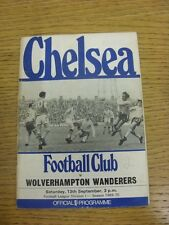 13/09/1969 Chelsea v Wolverhampton Wanderers  (Creased, Worn, Marked). Condition