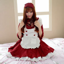 Uniform Halloween Anime Cosplay Maid Costume Lolita French Maid Babydoll Dress L