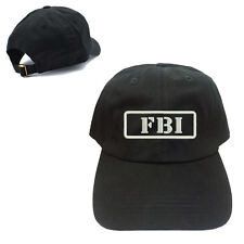 FBI UNSTRUCTURED 100% COTTON CAP HAT BUCKLE BACK CLOSURE