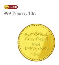 Om Gold 10 gm 24k(999) Purity Gold Coin