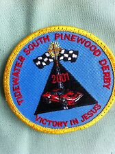 ROYAL RANGERS, Patch TIDEWATER South PINEWOOD DERBY- 2001-Victory in Jesus