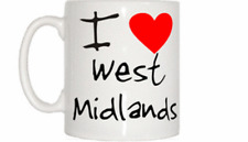 I Love Heart West Midlands Mug