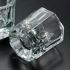 2 Pcs Glass Crystal Cup Dappen Dish Acrylic Nail Art Liquid Powder Container