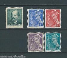 FRANCE - 1942 YT 545 et 546 à 549 - TIMBRES NEUFS** LUXE