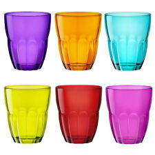 6 Bormioli Rocco Multi Colored Stemless Ercole Wine Glasses Set Tumblers 7.75oz