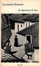 A ciascuno il suo- L.SCIASCIA, 1967 Einaudi editore  - ST742