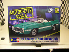 REVELL 1:25 SCALE 1969 SHELBY GT500 MUSTANG CONVERTIBLE PLASTIC MODEL CAR KIT