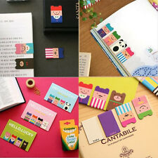 Hot Sales 4 Pcs Bookmarks Note Pad Memo Stationery Book Mark Novelty Funny Gift