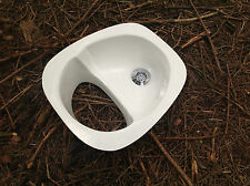 White Compost Toilet Urine Diverter / Separator for Composting loo / off grid