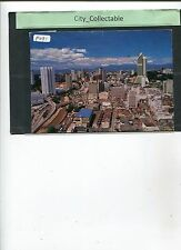 P091 # MALAYSIA USED PICTURE POST CARD * OLD & NEW KUALA LUMPUR SKYSCRAPERS