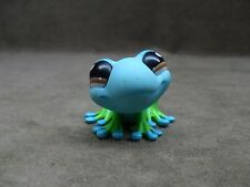 Littlest Pet Shop #1140 Blue And Green Frog With  Brown Eyes 2007