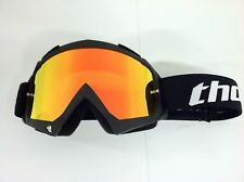 Thor Enemy Sand Black Adult Goggles MX ATV Tinted Smoke & Fire Iridium Lens