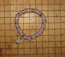 NEW Juicy Couture Bracelet Violet Beads Star Charm