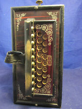 Beautiful ANTIQUE VINTAGE Asian Oriental Chinese Wood Accordion Instrument