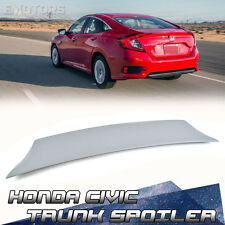Painted For Honda Civic 10 4D Saloon V Style Sport Rear Trunk Boot Spoiler 2016+