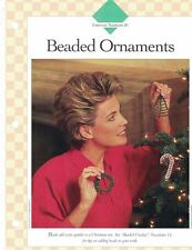 Beaded Ornaments Crochet Single Pattern Vanna White Add Beads to Your Crochet