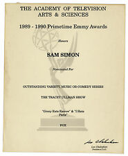 Emmy Nomination for ''Tracey Ullman Show'' Sam Simon