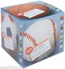 "Wilton 3D Football Sports Ball  Sphere Cake Pan 6"" Baking Tin  NEXT DAY DESPATCH"
