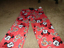 Minnie Mouse Disney Womens Red Sleep Pajama Lounge Capri Pants Medium 8/10