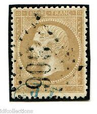 Classique France Napoléon N°21 oblitéré avec cachet de controle bleu en bas TP