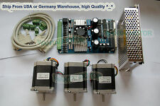 【USA Ship& No Tax】Nema23 Wantai Stepper Motor 270oz-in,3A +3 Axis CNC Cut Kit