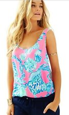 Lilly Pulitzer Cosmos Top Pink Pout Barefoot Princess $118 NWT XS