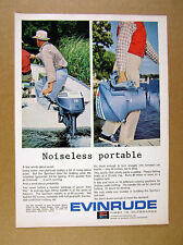 1965 Evinrude Sportwin 9 1/2 hp Outboard Motor 2x photo vintage print Ad