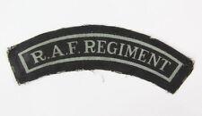 """Title """"RAF regiment"""" Anglais ww2  (matériel original)"""