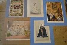 5 original chromolithographs of Royal Family. Marriage of Prince of Wales 1863