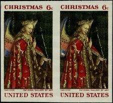"#1363b ""6¢ CHRISTMAS"" IMPERF PAIR TAGGED MAJOR ERROR BQ1169"