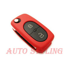 Red Key Cover Seat Skoda 2 Button Case Remote Fob Protector Bag Oval Round 42r