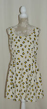 H by Henry Holland Designer Leopard Print Linen Dress Size UK 18