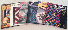 LOT 6 QUILT BOOKS Basic Guide Rotary Cut Quilts,Shortcuts, Template Free Borders
