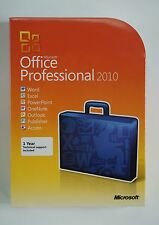 Office 2010 Professional Pro DVD Retail Box Vollversion Englisch 269-14670 NEU