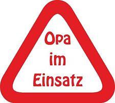 Opa im Einsatz Autoaufkleber Folie Geschenk Achtung Sticker Beschriftung on Tour