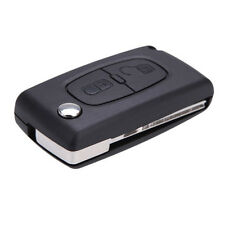 Flip Remote Keyless Key case shell for PEUGEOT 307 307S 308 407 607 2Button BT