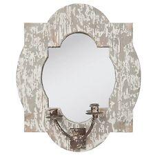 Clayre Eef Specchio Da Parete Portacandela Vintage Shabby Decorazione Legno 38 7