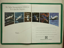 9/1997 PUB BOMBARDIER LEARJET CHALLENGER BUSINESS JET BIZJET ORIGINAL ADVERT