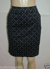 NWT TOMMY HILFIGER WOMENS NAVY & RED PATTERN PENCIL SKIRT SIZE 6