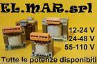 Trasformatore Monofase Uscita 12 - 24 - 48 - 55 - 110 V ingresso 230 - 400 V