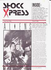 SHOCK EXPRESS #5 - horror fanzine 1986 - ALIENS, Larry Cohen, Penelope Spheeris