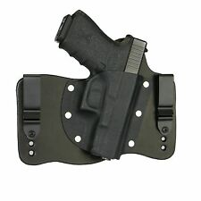 FoxX Leather & Kydex IWB Hybrid Holster Glock 19, 23 & 32 Black Right Tuckable