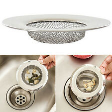 Stainless Steel Mesh Sink Strainer Trap Bath Hair Drain Cheerful Flume Filter