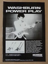 vintage magazine advert 1986 WASHBURN HM
