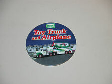 HESS 2002 TOY TRUCK AND AIRPLANE CASHIER BUTTON MINT & REGULAR 2002 BAG