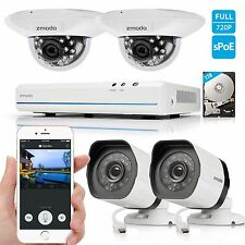 Zmodo 1080p 8CH HDMI NVR 4 1.0MP PoE IP Network Home Security Camera System 1TB