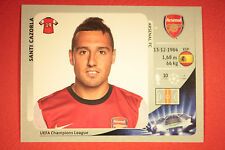 PANINI CHAMPIONS LEAGUE 2012/13 N. 94 S. CAZORLA ARSENAL BLACK BACK MINT!